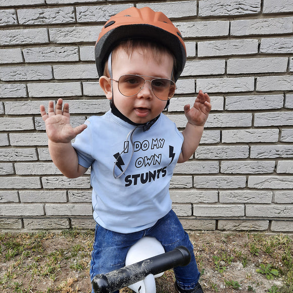 'I do my own stunts' baby shortsleeve shirt