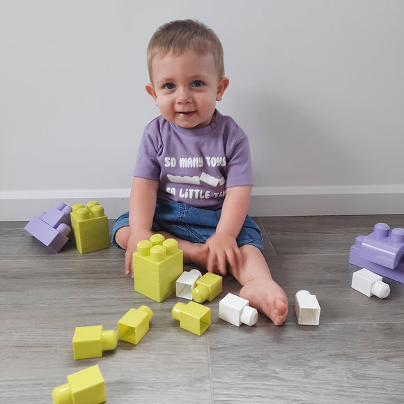 'So many toys - So little time' baby shortsleeve shirt
