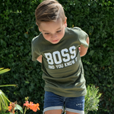 'Boss and you know it' kids shortsleeve shirt