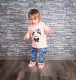 Bow and flowers baby longsleeve shirt