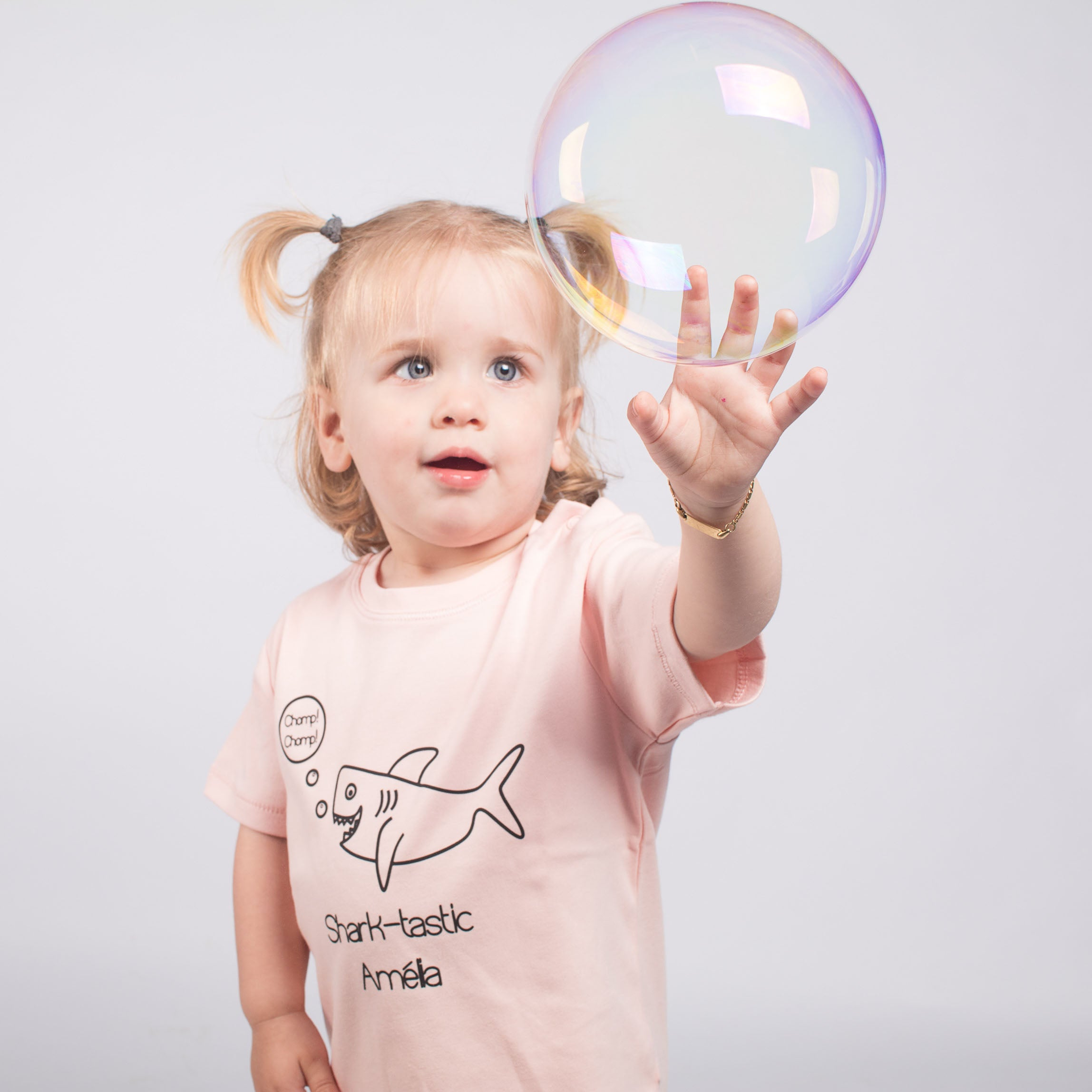 Sharktastic baby shortsleeve shirt