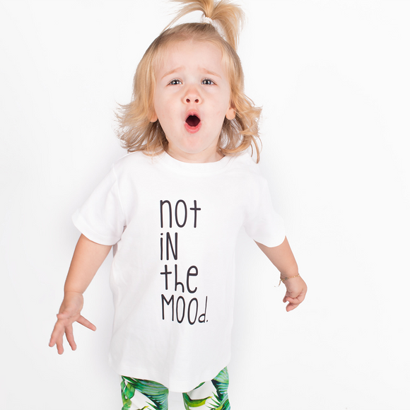 'Not in the mood' baby shortsleeve shirt