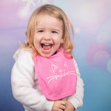 'Little miss purrrfect' baby bib