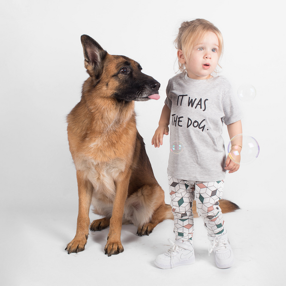 'It was the dog' baby shortsleeve shirt
