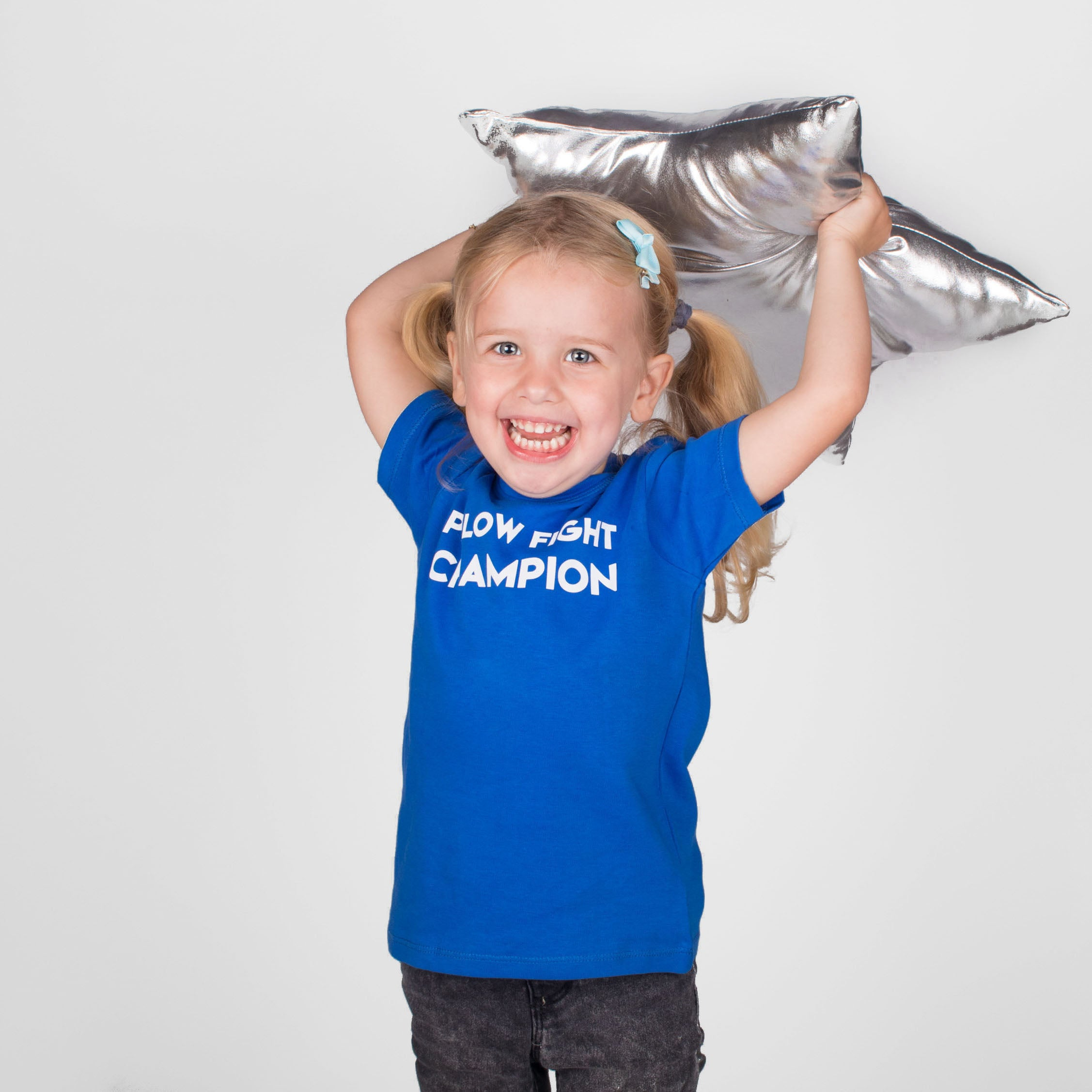 'Pillow fight champion' baby shortsleeve shirt