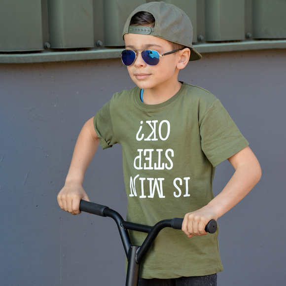 'Is mijn step ok?' kids shortsleeve shirt