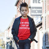 'In my defence, I was left unsupervised' kids shortsleeve shirt