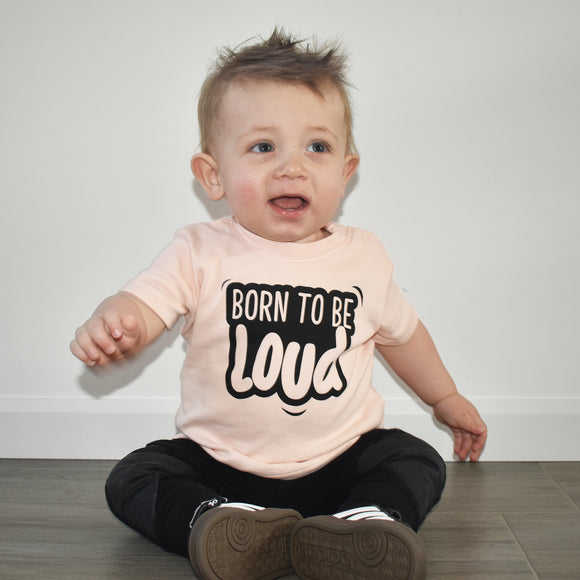 'Born to be loud' baby shortsleeve shirt