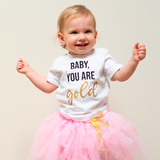 'Baby you are gold' baby shortsleeve shirt