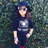 'Say cheese' kids sweater