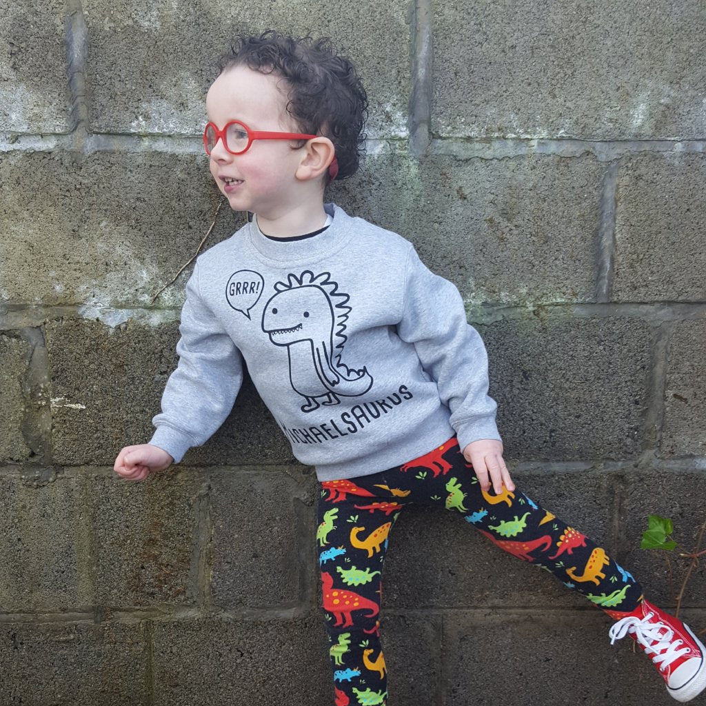 Dino kids sweater