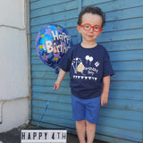 Birthday boy kids shortsleeve shirt