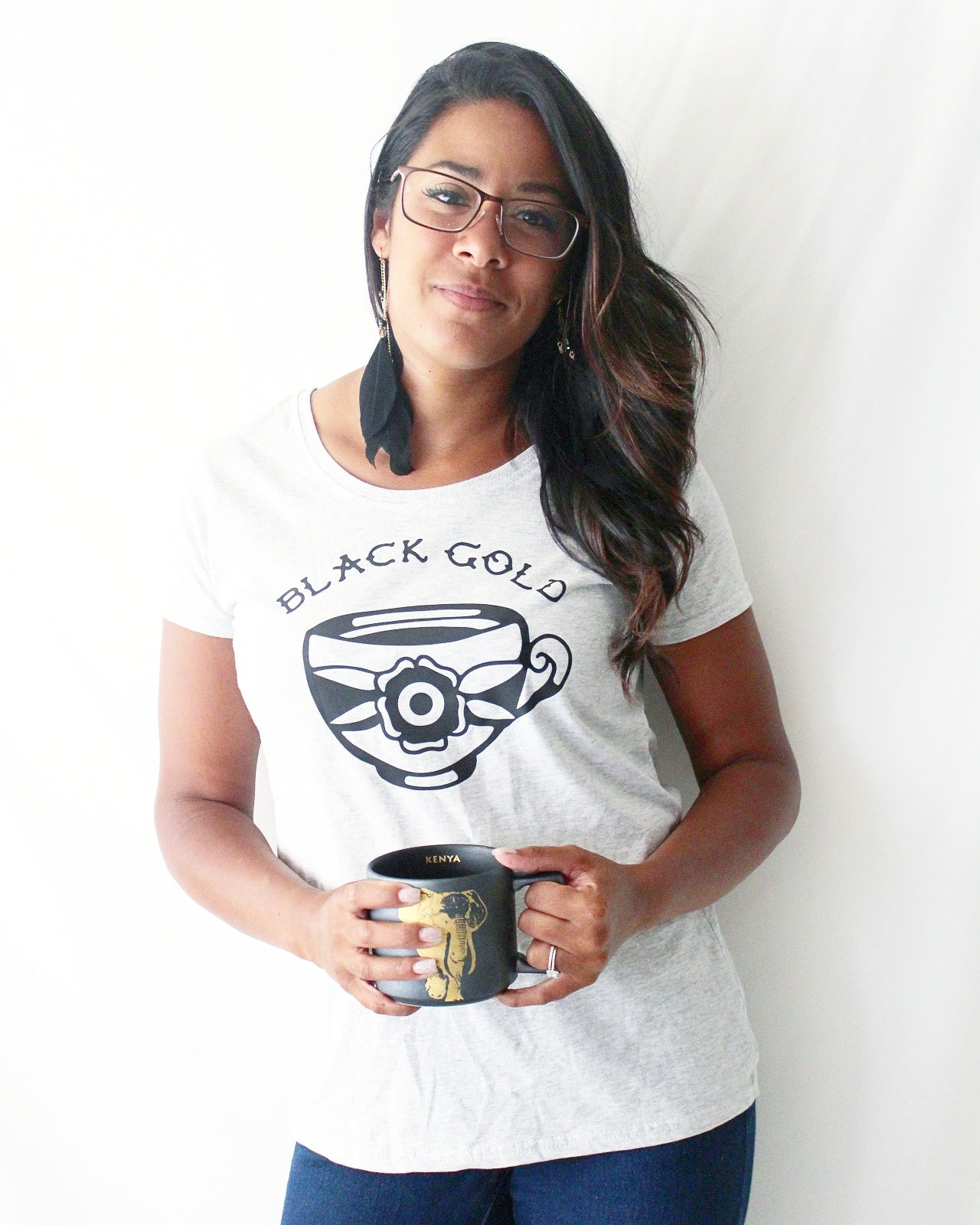 'Black gold' coffee shirt