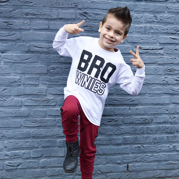 'Bro-wnies' kids longsleeve shirt