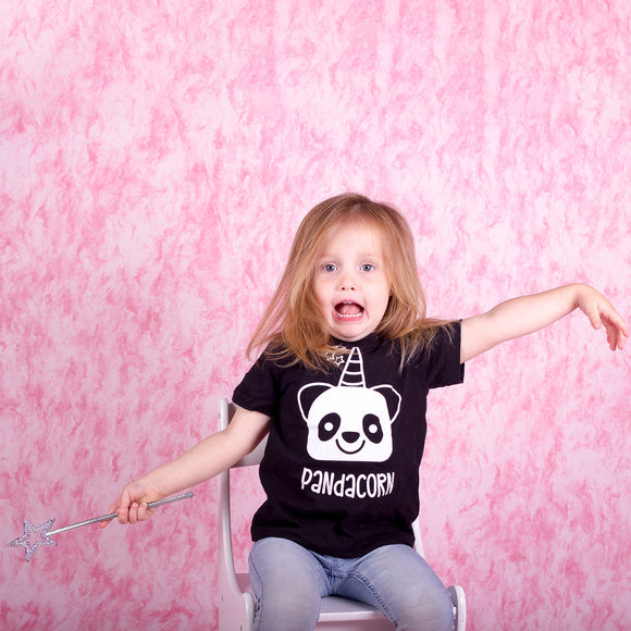 Pandacorn kids shortsleeve shirt