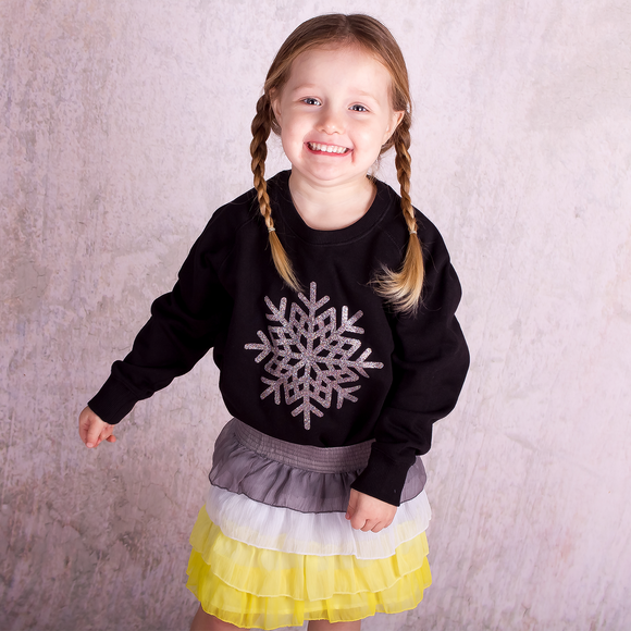 Snow star kids sweater