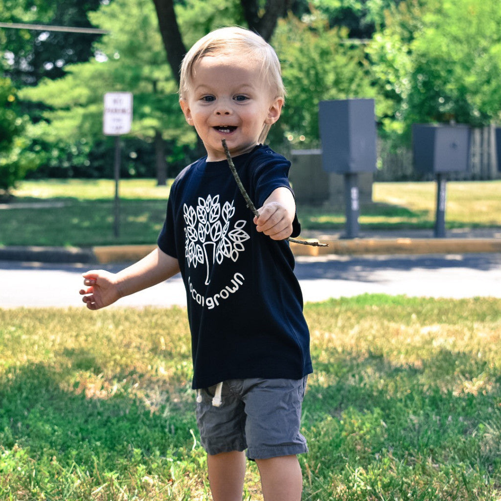 Locally grown' baby shortsleeve shirt