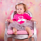 Flamingo baby shortsleeve shirt