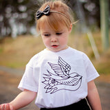 Swallow kids tattoo shirt