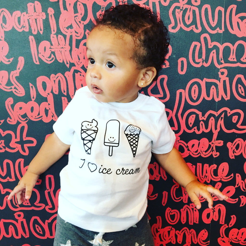 Ice cream baby shortsleeve shirt