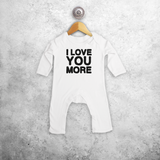 'I love you more' baby romper