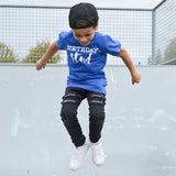 'Birthday stud' kids shortsleeve shirt