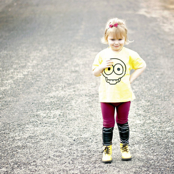 Skull kids shortsleeve shirt