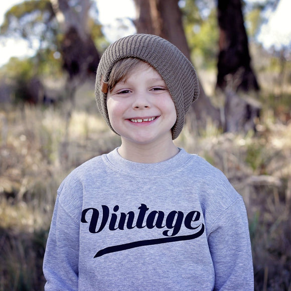 'Vintage' kids sweater