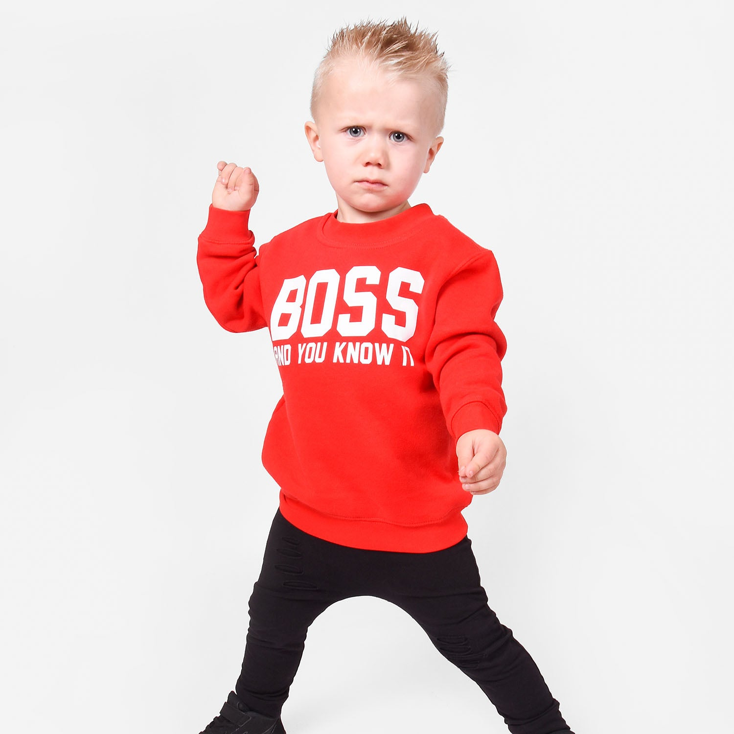 'Boss and you know it' kids sweater