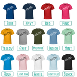 Colour options for kids shirts with short sleeves by KMLeon.