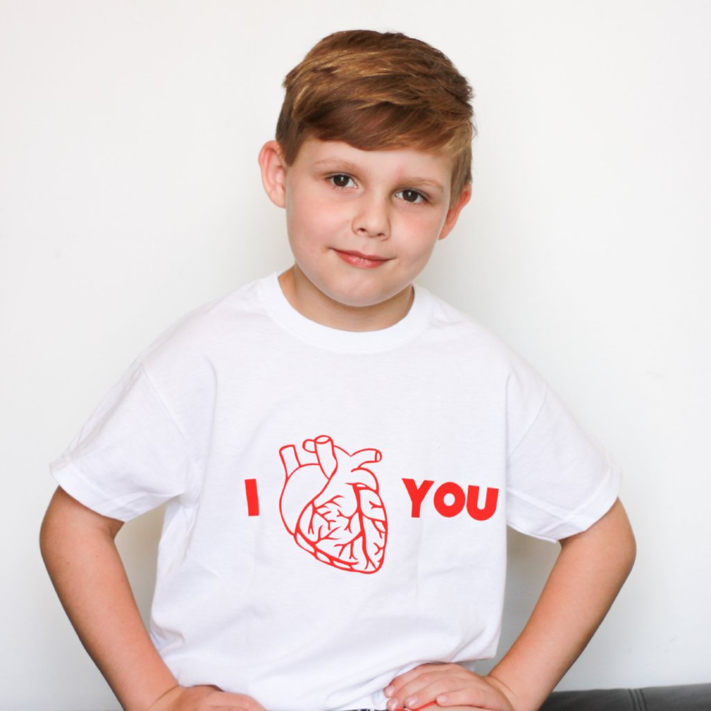 Anatomically correct heart kids shortsleeve shirt