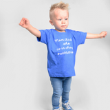 'Mom thinks she is in charge' kids shortsleeve shirt
