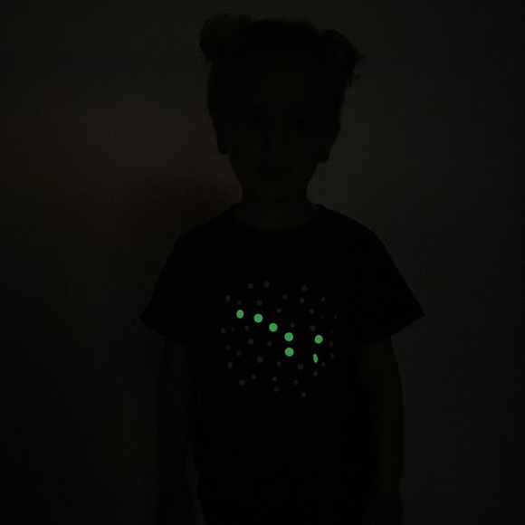 Little bear glow in the dark kids shortsleeve shirt