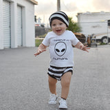 'I believe in humans' baby shortsleeve shirt