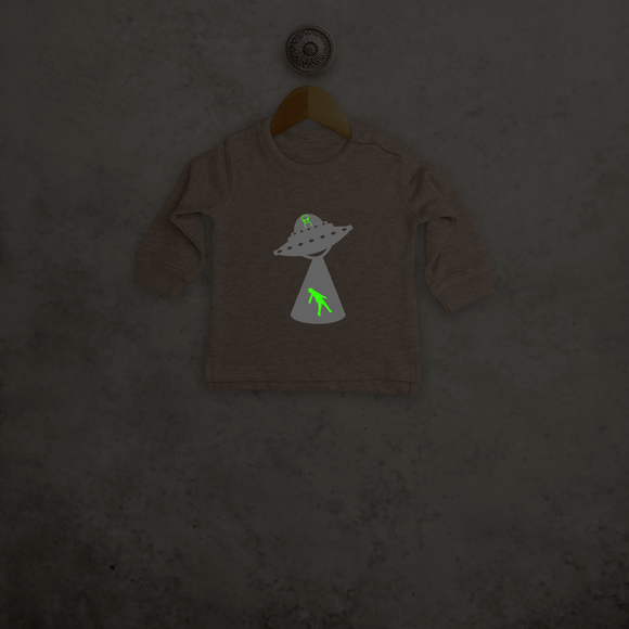 Alien abduction glow in the dark baby sweater