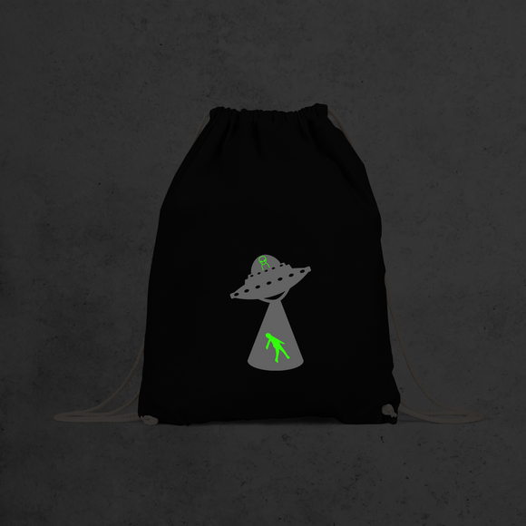 Alien abduction glow in the dark backpack