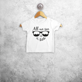 'All we see is the sea' baby shortsleeve shirt