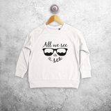 'All we see is the sea' kids sweater