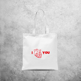 Anatomically correct heart tote bag