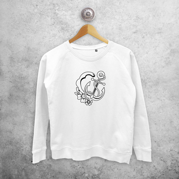Anchor and wave sweater