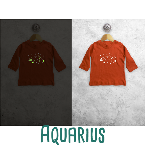 Star sign glow in the dark baby longsleeve shirt