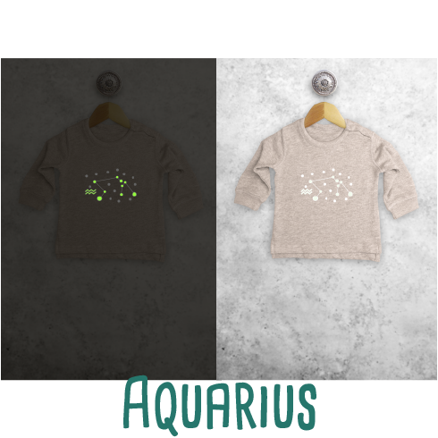 Star sign glow in the dark baby sweater