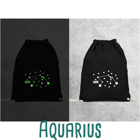 Star sign glow in the dark backpack