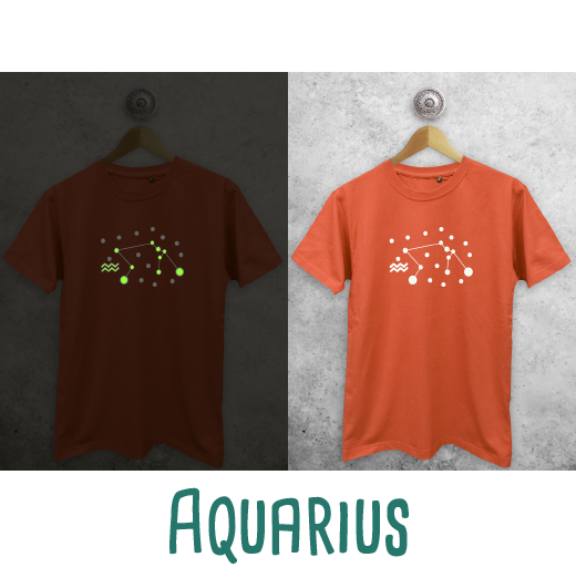 Star sign glow in the dark adult shirt