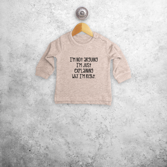 'I'm not arguing...' baby sweater