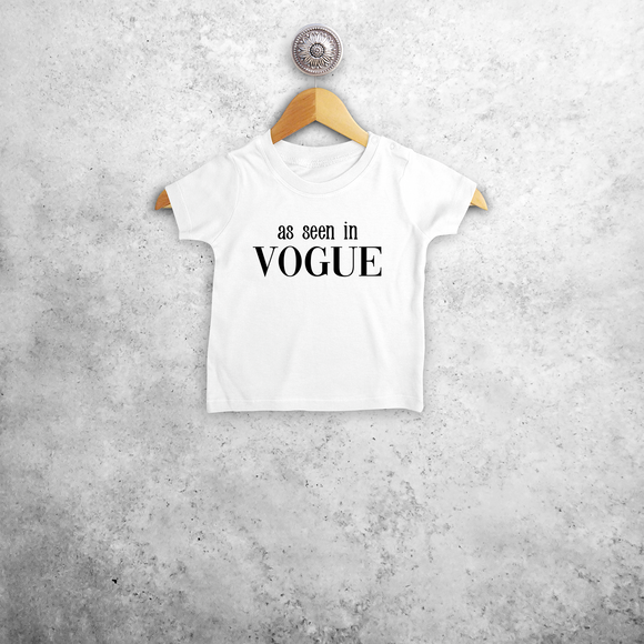 'As seen in Vogue' baby shortsleeve shirt