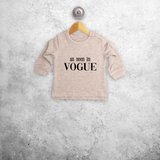 'As seen in Vogue' baby sweater