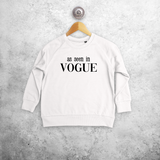 'As seen in Vogue' kids sweater