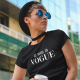 'As seen in Vogue' adult shirt