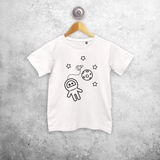 Astronaut kids shortsleeve shirt